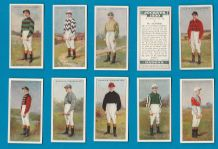 Tobacco cigarette cards Horse racing, Jockeys 1930 set
